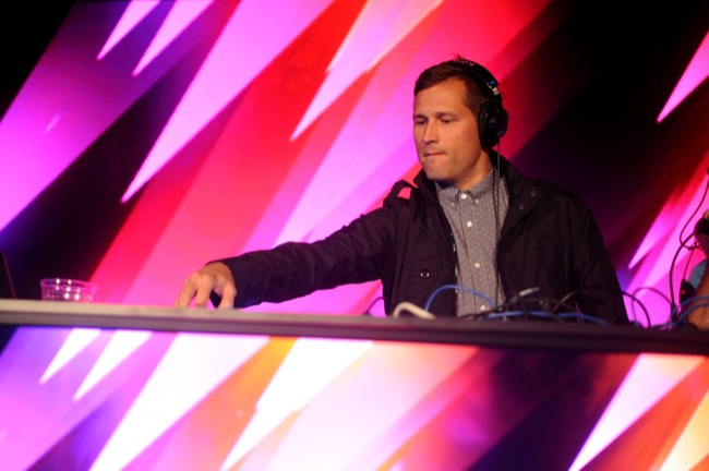 Kaskade celebrates the launch of Moto X, the First Smartphone to be Assembled in the U.S., on August 1, 2013 in New York City.