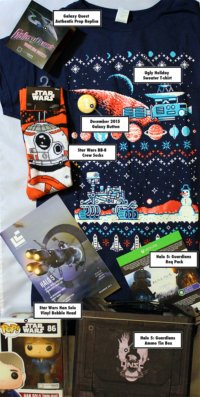 Loot Crate December 2015 Galaxy Unboxing