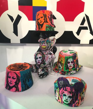 Hats built for divas, designer Tom Knight's obsession with studs has made it on to Madonna, Lady Gaga, Britney Spears, Nicki Minaj and other pop stars. (PHOTO: Tina Benitez)