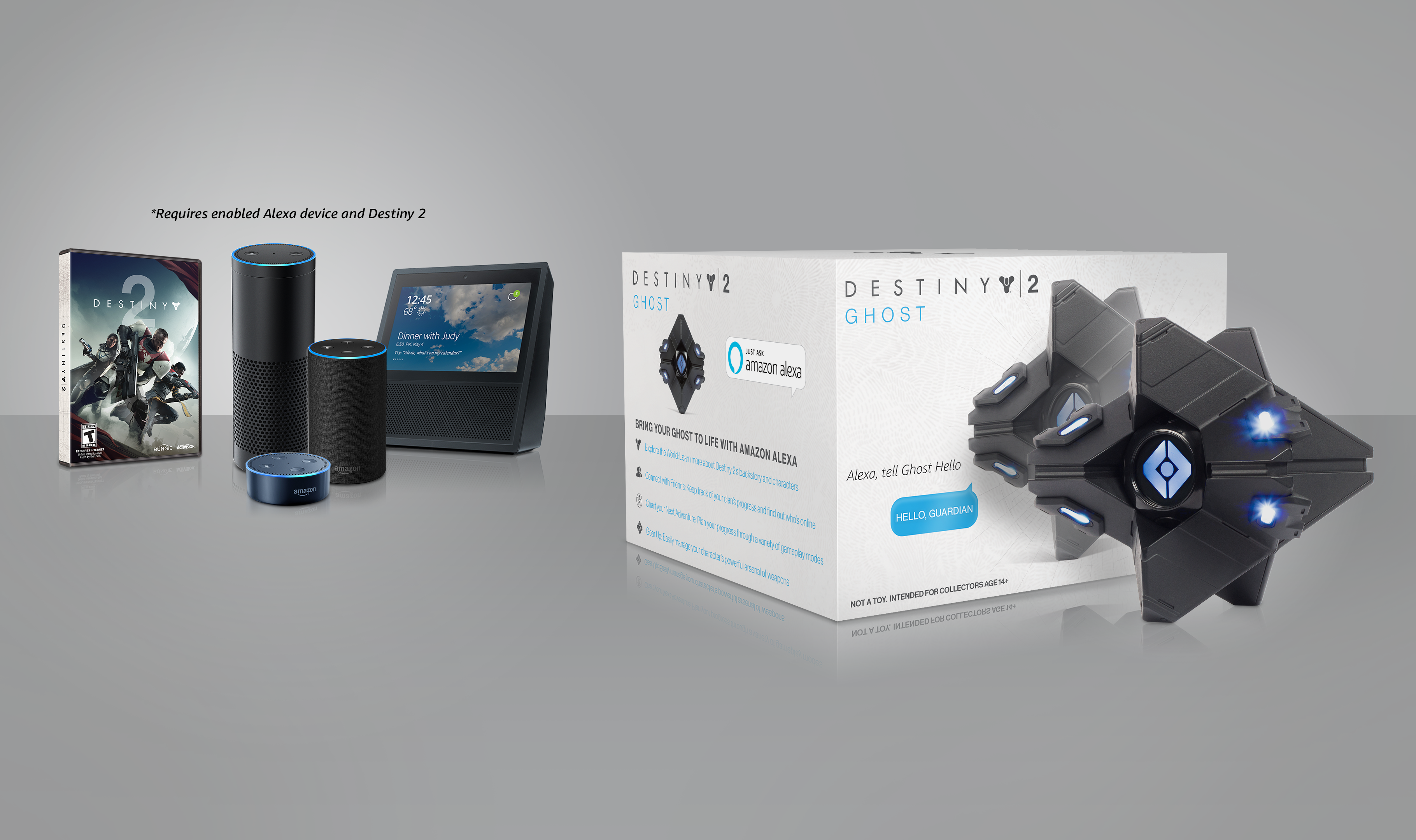 Amazon Limited Edition Destiny 2 Ghost - Requires Alexa-Enabled Device