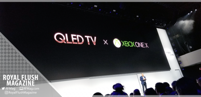 Samsung QLED TV X Xbox One X